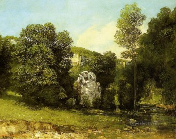La Ruisseau de la Breme Realist painter Gustave Courbet Oil Paintings