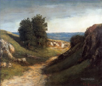 Paysage Guyere Realist painter Gustave Courbet Oil Paintings