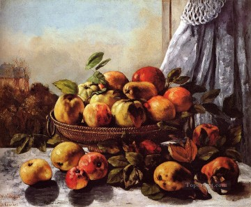 realism painting - Still Life Fruit Realist Realism painter Gustave Courbet