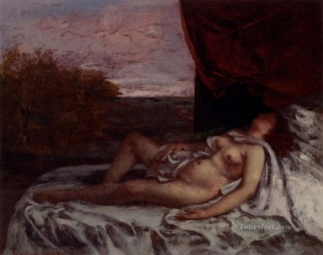 Femme Nue Endormie Realist Realism painter Gustave Courbet Oil Paintings
