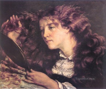Realism Canvas - Portrait of Jo The Beautiful Irish Girl Realist Realism painter Gustave Courbet