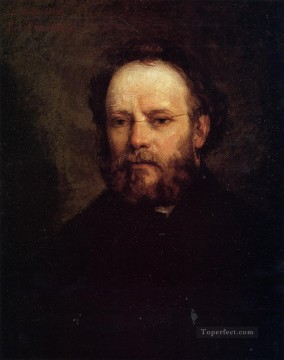 Realism Canvas - Portrait of Pierre Joseph Proudhon Realist Realism painter Gustave Courbet
