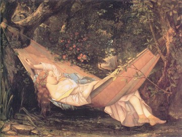 realism realist Painting - The Hammock Realist Realism painter Gustave Courbet