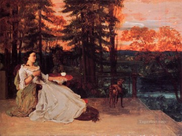 realism realist Painting - The Lady of Frankfurt Gustave Courbet 1858 Realist Realism painter Gustave Courbet