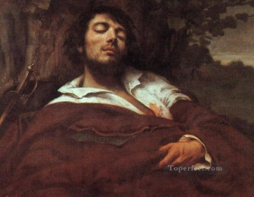 Realism Canvas - Wounded Man WBM Realist Realism painter Gustave Courbet