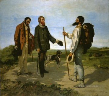 Realism Canvas - Bonjour Monsieur Courbet Realist Realism painter Gustave Courbet