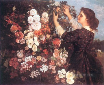 realism realist Painting - The Trellis Realist Realism painter Gustave Courbet