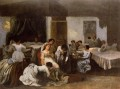 Dressing the Dead Girl Dressing the Bride Realist Realism painter Gustave Courbet