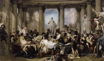 Thomas Couture Painting - Romans Of The Decadence figure painter Thomas Couture
