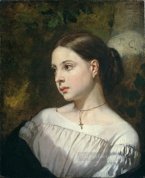 Portrait of a Girl figure painter Thomas Couture Oil Paintings