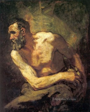 the Canvas - The Miser study for Timon of Athens figure painter Thomas Couture