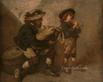 pifferaro et son fils figure painter Thomas Couture Oil Paintings