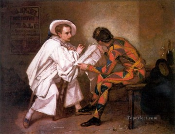Pierrot the Politician figure painter Thomas Couture Oil Paintings