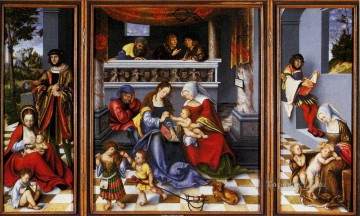 Lucas Cranach the Elder Painting - Altar Of The Holy Family Lucas Cranach the Elder