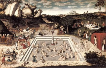 renaissance Painting - The Fountain Of Youth Renaissance Lucas Cranach the Elder