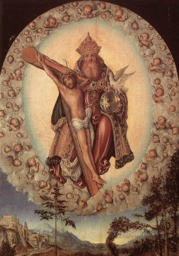 Lucas Cranach the Elder Painting - Trinity Lucas Cranach the Elder