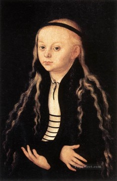 young Art - Portrait Of A Young Girl Renaissance Lucas Cranach the Elder