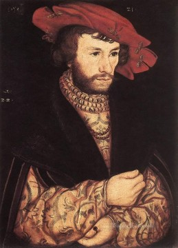 Lucas Cranach the Elder Painting - Portrait Of A Young Man Renaissance Lucas Cranach the Elder