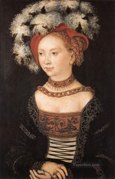 Woman Painting - Portrait Of A Young Woman Renaissance Lucas Cranach the Elder