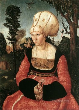 Lucas Cranach the Elder Painting - Portrait Of Anna Cuspinian Renaissance Lucas Cranach the Elder