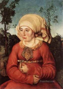 renaissance Painting - Portrait Of Frau Reuss Renaissance Lucas Cranach the Elder