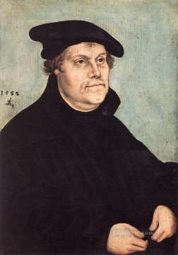 Lucas Cranach the Elder Painting - Portrait Of Martin Luther Renaissance Lucas Cranach the Elder