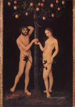 Lucas Cranach the Elder Painting - Adam And Eve 1 Lucas Cranach the Elder