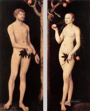 Lucas Cranach the Elder Painting - Adam And Eve 1531 Lucas Cranach the Elder