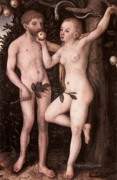 adam Painting - Adam And Eve 1538 Lucas Cranach the Elder