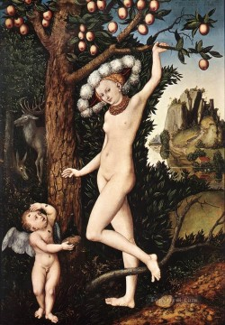 Lucas Cranach the Elder Painting - Cupid Complaining To Venus Lucas Cranach the Elder