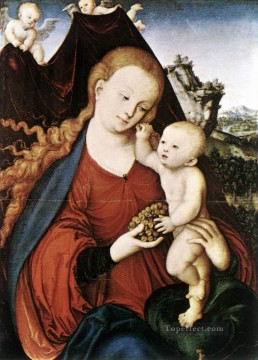 Lucas Cranach the Elder Painting - Madonna And Child Lucas Cranach the Elder