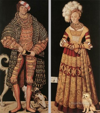 Lucas Cranach the Elder Painting - Portraits Of Henry The Pious Renaissance Lucas Cranach the Elder