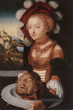 Lucas Cranach the Elder Painting - Salome 1530 Renaissance Lucas Cranach the Elder