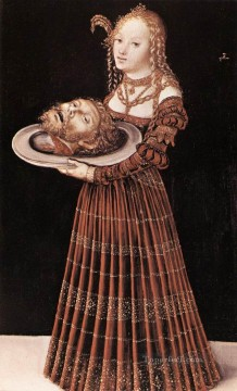 Salome With Head Of St John The Baptist Renaissance Lucas Cranach the Elder Oil Paintings