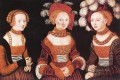 Saxon Princesses Sibylla Emilia And Sidonia Renaissance Lucas Cranach the Elder