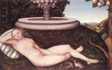 Lucas Cranach the Elder Painting - The Nymph Of The Fountain Lucas Cranach the Elder