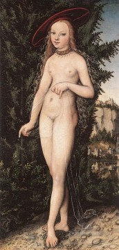 Lucas Cranach the Elder Painting - Venus Standing In A Landscape Lucas Cranach the Elder