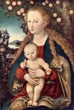 Virgin Painting - Virgin And Child Renaissance Lucas Cranach the Elder