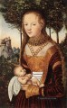 Young Mother And Child Renaissance Lucas Cranach the Elder