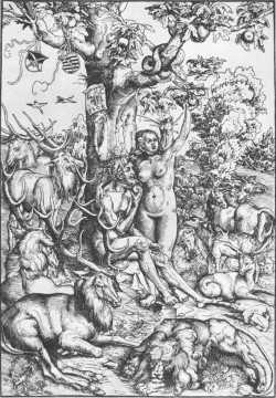 0 Works - Adam And Eve 1509 Renaissance Lucas Cranach the Elder