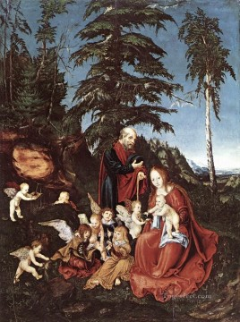 Lucas Cranach the Elder Painting - The Rest On The Flight Into Egypt Lucas Cranach the Elder