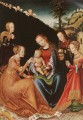 the Mystic Marriage Of St Catherine Lucas Cranach the Elder
