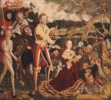Lucas Cranach the Elder Painting - The Martyrdom Of St Catherine 1506 Lucas Cranach the Elder