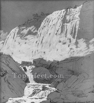 Jasper Francis Cropsey Painting - American Falls Niagara Jasper Francis Cropsey