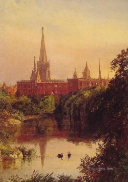 Jasper Francis Cropsey Painting - A View in Central Park Jasper Francis Cropsey