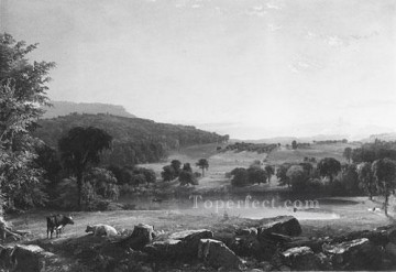 Jasper Francis Cropsey Painting - View Near Sherburne Chenango Country New York Jasper Francis Cropsey