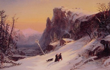 Jasper Francis Cropsey Painting - Winter in Switzerland Jasper Francis Cropsey