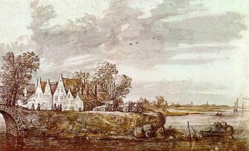 Aelbert Cuyp Painting - Landscape 1640 countryside scenery painter Aelbert Cuyp