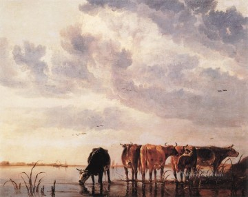 painter Art - Cows countryside painter Aelbert Cuyp