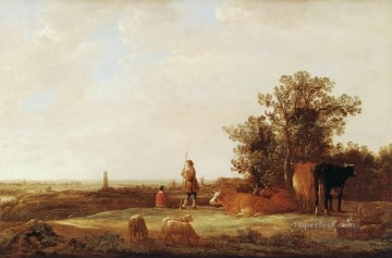painter Oil Painting - Plain countryside painter Aelbert Cuyp